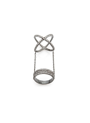 Bendis Design Çapraz Alyans Yüzük Gümüş